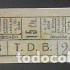 Coleccionismo Billetes de transporte: BILLETE LINEA 58 AV. TIBIDABO-ATARAZANAS. 15 CTS. BARCELONA. Lote 145196306