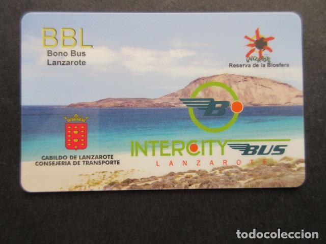 COLECCION CANARIAS - TARJETA PLASTICO BONO BUS LANZAROTE CABILDO (Coleccionismo - Billetes de Transporte)