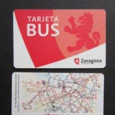 Coleccionismo Billetes de transporte: TARJETA PLASTICO URBANOS DE ZARAGOZA LOGO. Lote 145397102