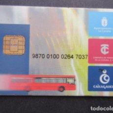 Coleccionismo Billetes de transporte: TARJETA PLASTICO COMPAÑIA DE TRANVIAS DE LA CORUÑA. Lote 145418066