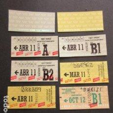 Coleccionismo Billetes de transporte: LOTE 10 ABONO METRO AUTOBUS MADRID DOS SON USAR TODOS DIFERENTES UNO DE LA EMT. Lote 146375314