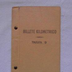 Coleccionismo Billetes de transporte: BILLETE KILOMETRICO. TARIFA 9. 1ª CLASE. SERIE 1. 3000 KM. 1962. RENFE. FERROCARRILES. Lote 147621138