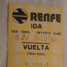 Coleccionismo Billetes de transporte: ANTIGUO BILLETE RENFE RIPOLL- CAMPEDEVANOL 1975. Lote 147650786