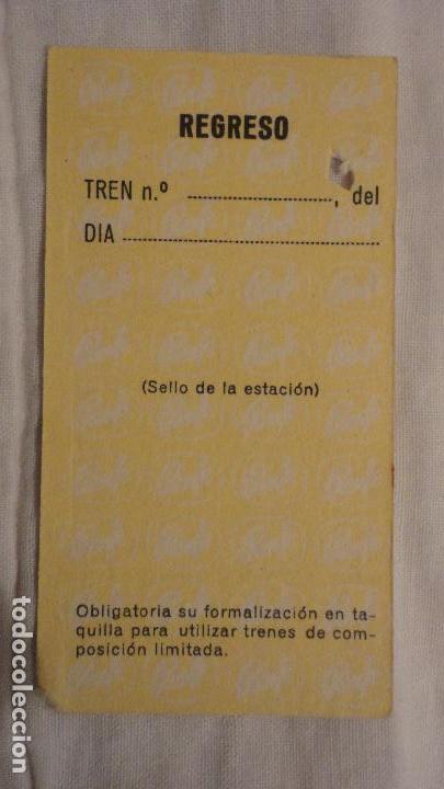 Coleccionismo Billetes de transporte: ANTIGUO BILLETE RENFE RIPOLL- TORELLO 1972 - Foto 2 - 147652354