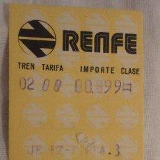 Coleccionismo Billetes de transporte: ANTIGUO BILLETE RENFE JEREZ FRONTERA-SEVILLA 1973. Lote 147654758