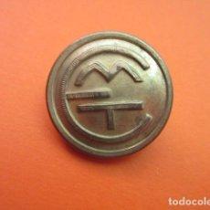 Coleccionismo Billetes de transporte: ANTIGUO BOTON UNIFORME EMT DE MADRID - AUTOBUS RENFE TRANVIA FERROCARRIL METRO TROLEBUS. Lote 148011262