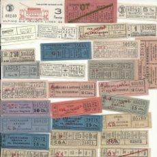 Coleccionismo Billetes de transporte: LOTE CAPICUAS VALENCIANOS Y LASTIMAS. Lote 148023886