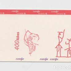 Coleccionismo Billetes de transporte: TARJETA CERCANIAS RENFE DE MADRID IV CENTENARIO DEL QUIJOTE - SIN USAR. Lote 148782598