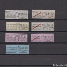 Coleccionismo Billetes de transporte: LOTE 6 BILLETES DIFERENTES - DISTINTAS EPOCAS AUTOBUSES BADALONA BUFALA GLORIAS A - R. Lote 148907366