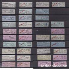 Coleccionismo Billetes de transporte: COLECCION 37 BILLETES DIFERENTES TUSA BADALONA TODOS DISTINTOS COLORES TRAYECTOS ETC. SANTA COLOMA. Lote 148907542