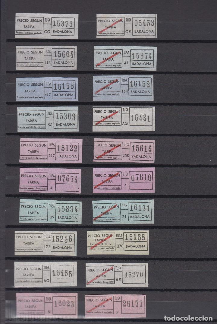 Coleccionismo Billetes de transporte: COLECCION 37 BILLETES DIFERENTES TUSA BADALONA todos distintos colores trayectos etc. SANTA COLOMA - Foto 2 - 148907542