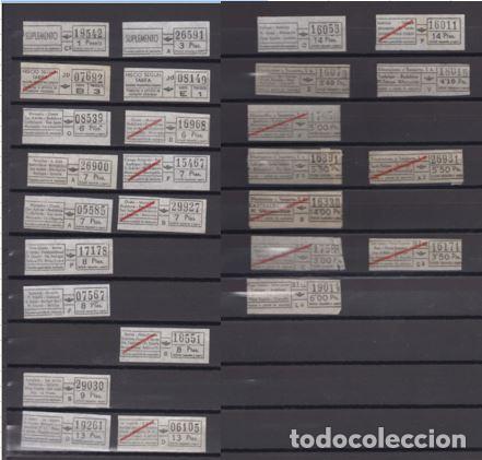 COLECCION 27 BILLETES DIFERENTES URBAS URBANIZACIONES Y TRANSPORTES TODOS DIFERENTES (Coleccionismo - Billetes de Transporte)