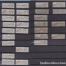 Coleccionismo Billetes de transporte: COLECCION 27 BILLETES DIFERENTES URBAS URBANIZACIONES Y TRANSPORTES TODOS DIFERENTES. Lote 148907730