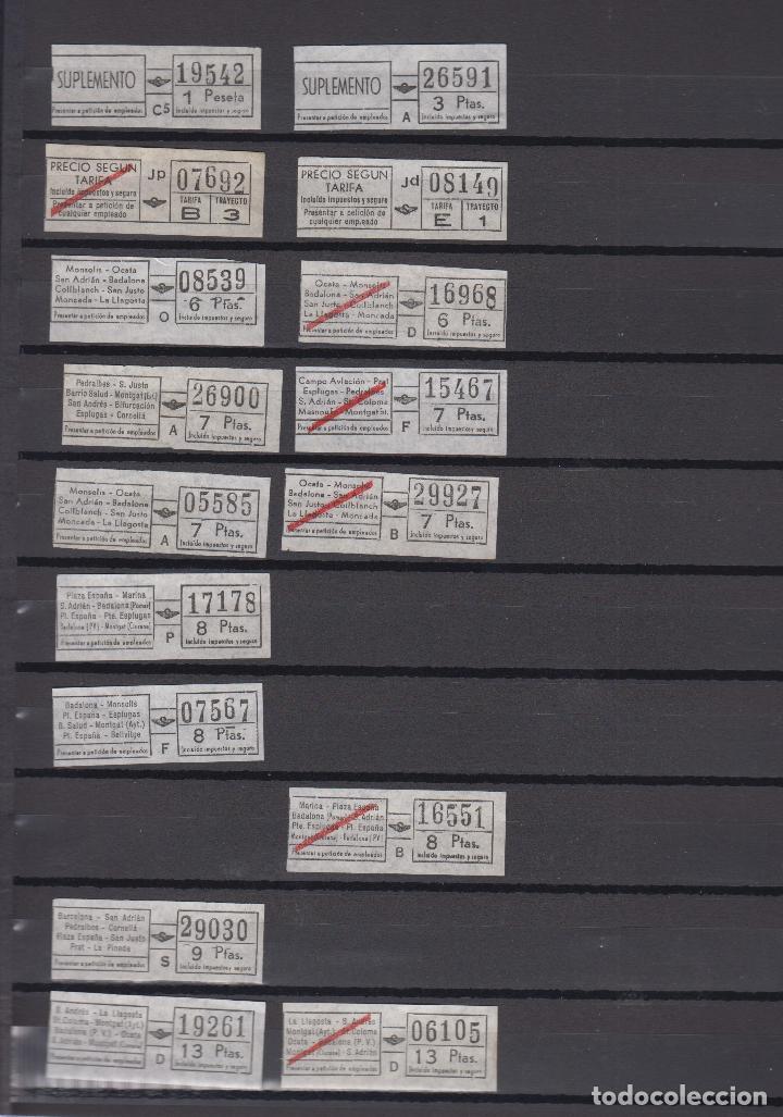 Coleccionismo Billetes de transporte: COLECCION 27 BILLETES DIFERENTES urbas URBANIZACIONES Y TRANSPORTES TODOS DIFERENTES - Foto 2 - 148907730