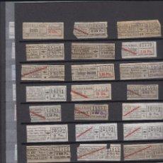 Coleccionismo Billetes de transporte: 144 BILLETES CAPICUA NUMEROS DIFERENTES URBAS URBANIZACIONES Y TRANSPORTES AUTOBUSES BARCELONA . Lote 148909326