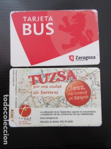 TARJETA PLASTICO URBANOS DE ZARAGOZA DIFERENTE TRASERA (Coleccionismo - Billetes de Transporte)