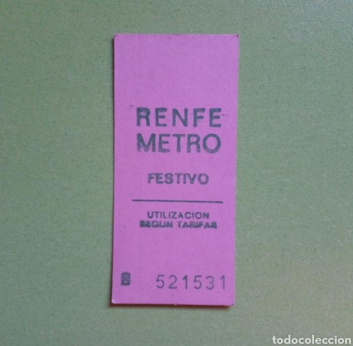 ANTIGUO BILLETE RENFE - METRO (Coleccionismo - Billetes de Transporte)