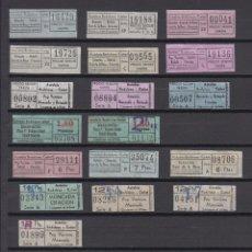 Coleccionismo Billetes de transporte: LOTE 18 BILLETES DIFERENTES AUTOBUSES CAÑET BADALONA . Lote 151399306