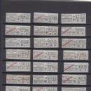 Coleccionismo Billetes de transporte: LOTE 23 BILLETES DIFERENTES TRANVIAS TRANSPORTES BARCELONA LOGO TB TARIFAS LEER INTERIOR. Lote 151399774