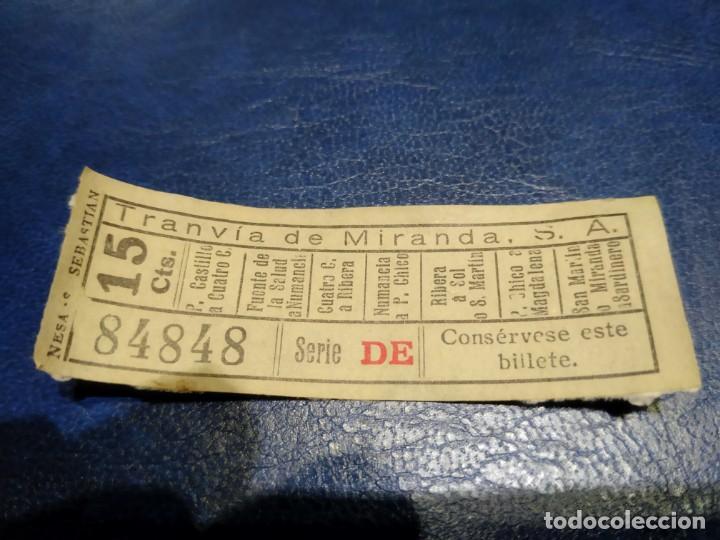 TRANVÍA DE MIRANDA S.A. CAPICÚA 84848 VER TRAYECTOS (Coleccionismo - Billetes de Transporte)