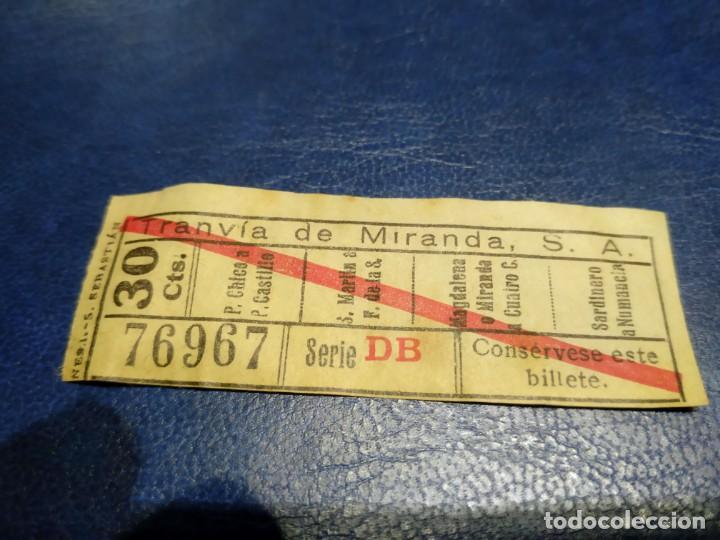 TRANVÍA DE MIRANDA S.A. CAPICÚA 76967 VER TRAYECTOS (Coleccionismo - Billetes de Transporte)