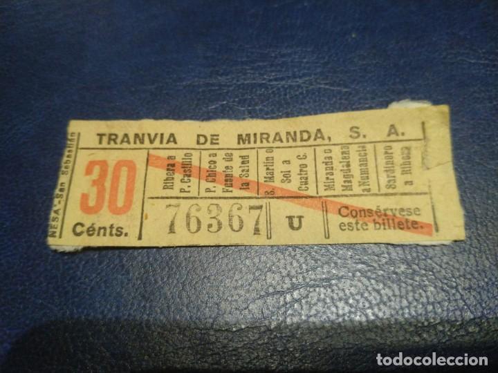 SANTANDER TRANVÍA DE MIRANDA S.A. CAPICÚA 76367 VER TRAYECTOS (Coleccionismo - Billetes de Transporte)