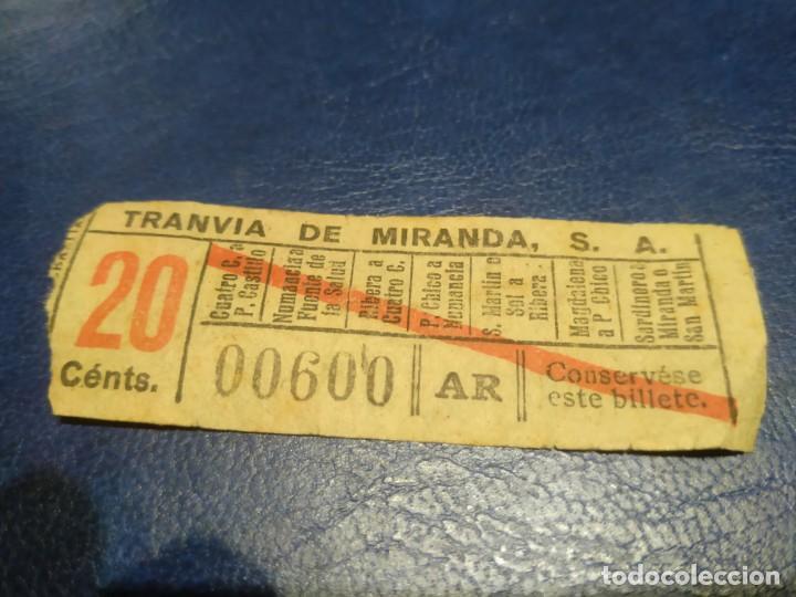 SANTANDER TRANVÍA DE MIRANDA S.A. CAPICÚA 00600 VER TRAYECTOS (Coleccionismo - Billetes de Transporte)