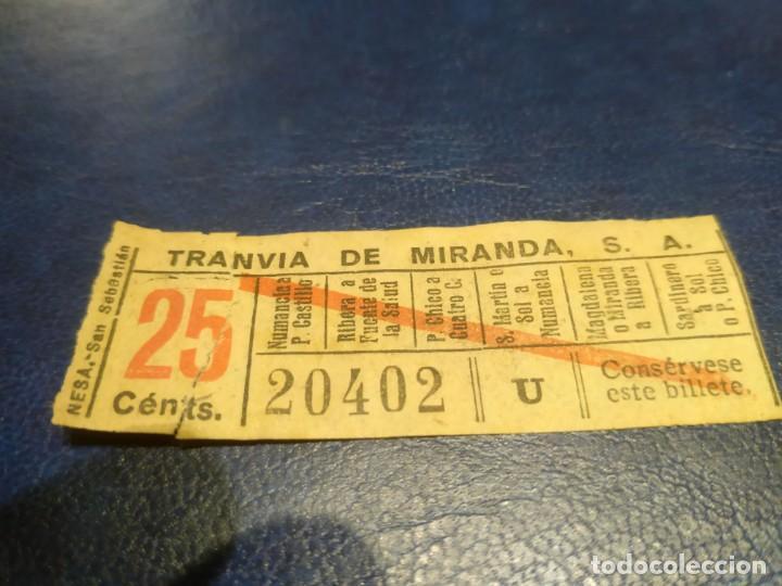 SANTANDER TRANVÍA DE MIRANDA S.A. CAPICÚA 20402 VER TRAYECTOS (Coleccionismo - Billetes de Transporte)