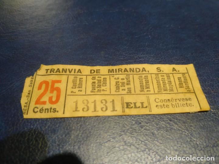 SANTANDER TRANVÍA DE MIRANDA S.A. CAPICÚA 13131 VER TRAYECTOS (Coleccionismo - Billetes de Transporte)