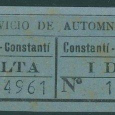 Coleccionismo Billetes de transporte: BILLETE DE SERVICIO DE AUTOBUSES // TARRAGONA - CONSTANTI //Z58. Lote 151954778