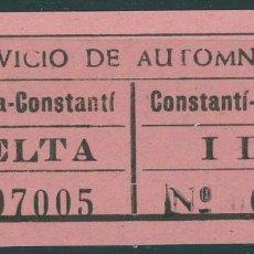 Coleccionismo Billetes de transporte: BILLETE DE SERVICIO DE AUTOBUSES // TARRAGONA - CONSTANTI // Z58. Lote 151954894