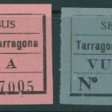 Coleccionismo Billetes de transporte: (L565) 2 BILLETES DE SERVICIO DE AUTOBUSES // TARRAGONA - CONSTANTI // Z58. Lote 151955038