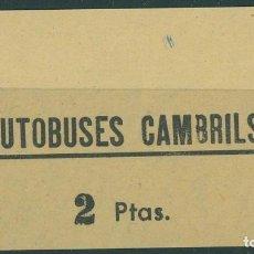 Coleccionismo Billetes de transporte: BILLETE DE AUTOBUSES DE CAMBRILS //Z63. Lote 152067682