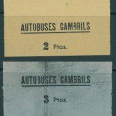 Coleccionismo Billetes de transporte: (L566) 2 BILLETES DE AUTOBUSES DE CAMBRILS //Z63. Lote 152067742