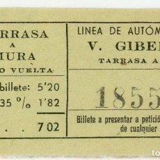 Coleccionismo Billetes de transporte: BILLETE DE V. GIBERT /TARRASA - MUSA. Lote 152070554
