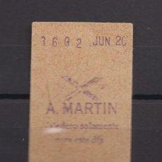 Coleccionismo Billetes de transporte: BILLETE METRO DE MADRID PARADA A. MARTIN. Lote 152216050