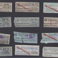 Coleccionismo Billetes de transporte: SANTANDER - SERVICIO MUNCIPAL TRANSPORTES URBANOS TROLEBUS - CAPICUA VER NUMEROS 12 BILLETES. Lote 152335370