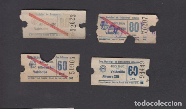 EMPRESA MUNICIPAL TRANSPORTES URBANOS DE SANTANDER TUSA TROLEBUS 4 CAPICUA NUMERO Y TRAYECTO DIFEREN (Coleccionismo - Billetes de Transporte)