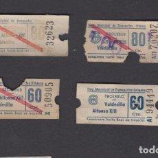 Coleccionismo Billetes de transporte: EMPRESA MUNICIPAL TRANSPORTES URBANOS DE SANTANDER TUSA TROLEBUS 4 CAPICUA NUMERO Y TRAYECTO DIFEREN. Lote 152336582