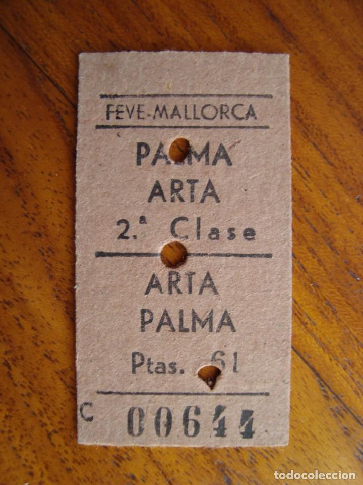 BILLETE FERROCARRIL PALMA ARTÀ. MALLORCA. 1968. (Coleccionismo - Billetes de Transporte)