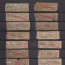 Coleccionismo Billetes de transporte: COLECCION UNICA WEB 63 BILLETES DIFERENTES CAPICUA EN NUMERO Y TRAYECTOS TRANVIA MIRANDA SANTANDER . Lote 152518250