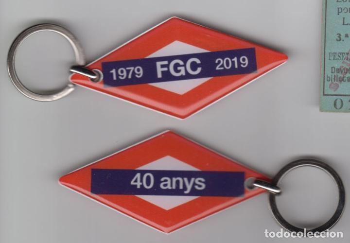 LLAVERO 40 AÑOS ANIVERSARIO FERROCARRILES GENERALITAT (Coleccionismo - Billetes de Transporte)