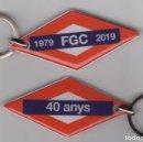 Coleccionismo Billetes de transporte: LLAVERO 40 AÑOS ANIVERSARIO FERROCARRILES GENERALITAT. Lote 153122430