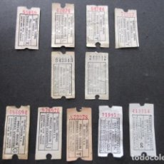 Coleccionismo Billetes de transporte: LOTE 11 BILLETES CAPICUA ZARAGOZA AUTOBUS TRANVIAS . Lote 153329378