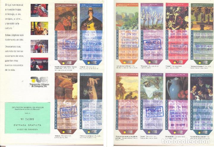 Coleccionismo Billetes de transporte: Coleccion Bonobuses de Zaragoza. Años 1996 a 2001 Inc. Carpetas oficiales completas. EX - Foto 4 - 154875518