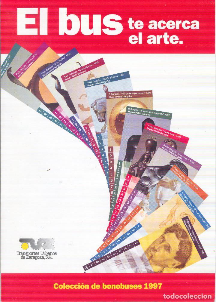 Coleccionismo Billetes de transporte: Coleccion Bonobuses de Zaragoza. Años 1996 a 2001 Inc. Carpetas oficiales completas. EX - Foto 3 - 154875518