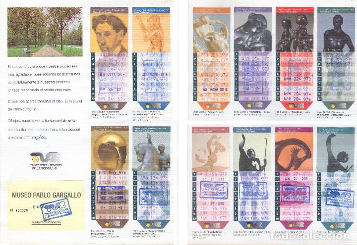 Coleccionismo Billetes de transporte: Coleccion Bonobuses de Zaragoza. Años 1996 a 2001 Inc. Carpetas oficiales completas. EX - Foto 6 - 154875518