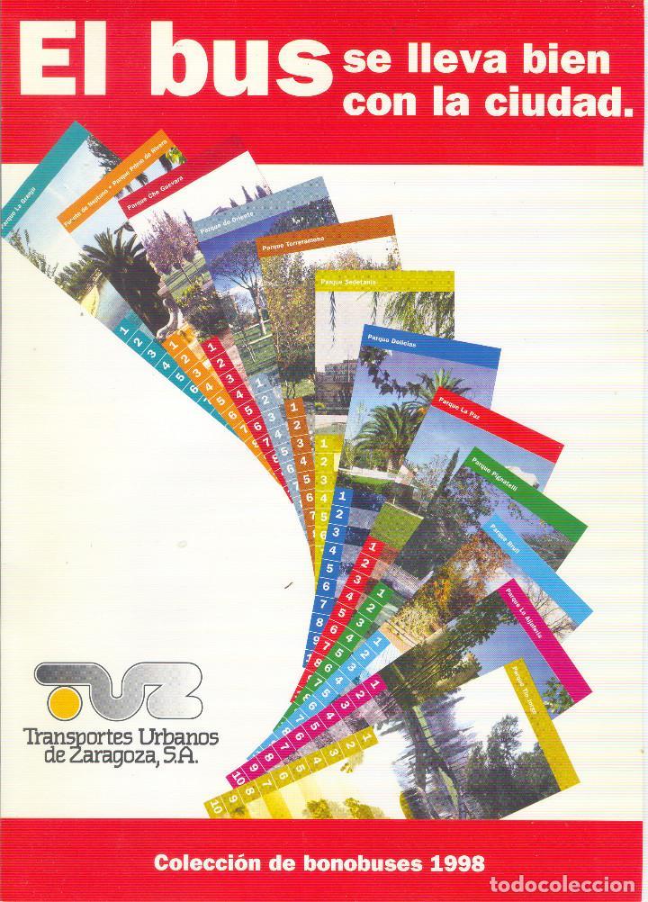 Coleccionismo Billetes de transporte: Coleccion Bonobuses de Zaragoza. Años 1996 a 2001 Inc. Carpetas oficiales completas. EX - Foto 5 - 154875518