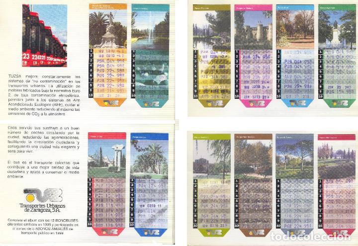 Coleccionismo Billetes de transporte: Coleccion Bonobuses de Zaragoza. Años 1996 a 2001 Inc. Carpetas oficiales completas. EX - Foto 8 - 154875518