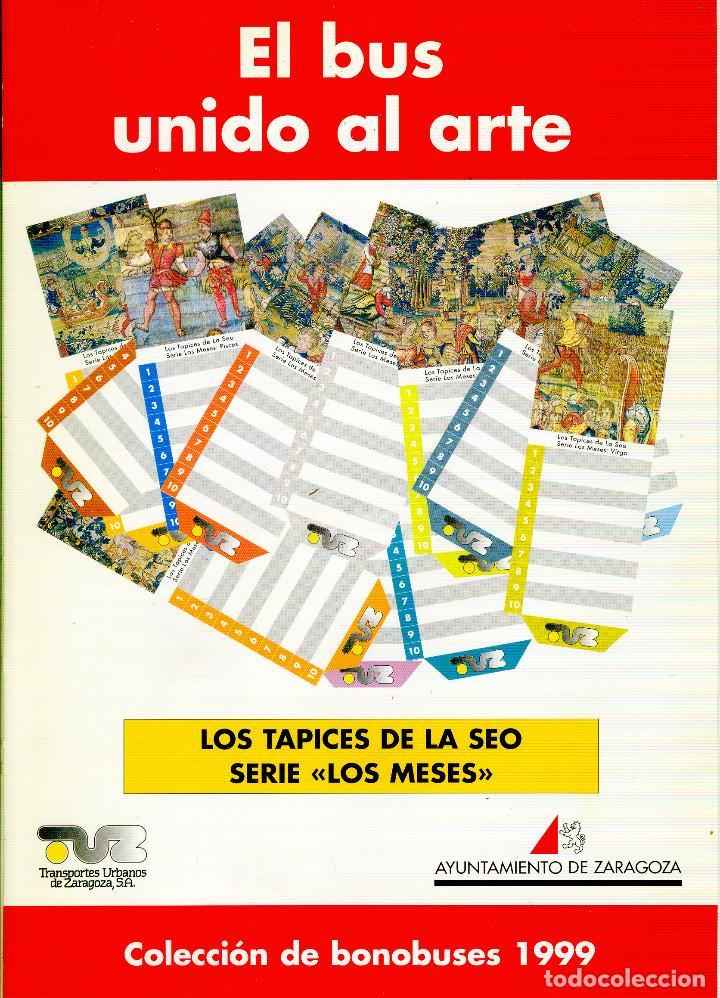 Coleccionismo Billetes de transporte: Coleccion Bonobuses de Zaragoza. Años 1996 a 2001 Inc. Carpetas oficiales completas. EX - Foto 7 - 154875518